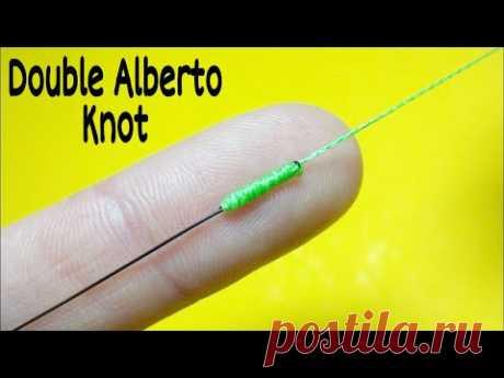 Как связать леску между собой. Соединительный узел double alberto knot. Лайфхаки и самоделки - YouTube