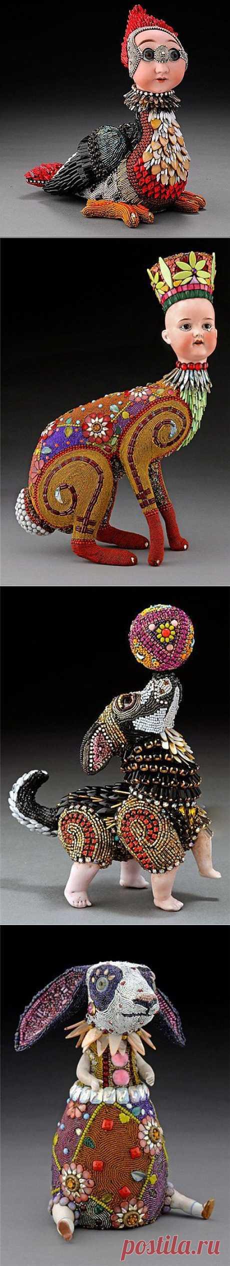 Бисерные скульптуры Betsy Youngquist. Анималистичные скульптуры. Продолжение.