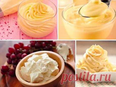 ТОП-5 Las cremas simples para los postres \u000a\u000a¡Conserva para no perder! \u000a\u000a1. La crema cocida clásica \u000a\u000aLos ingredientes: \u000a\u000aLa leche — 500 ml \u000aEl azúcar — 200 g \u000aLa vanillina — 1 h. L. \u000aEl tormento — 50 g \u000aLas yemas de huevo — 4 piezas \u000a\u000aLa preparación: \u000a\u000a1. Las yemas de huevo es triturado con el azúcar, la vanillina y el tormento hasta la masa homogénea. \u000a2. Llevamos la leche hasta la ebullición. Vertemos la leche caliente en yaichnuyu la masa, mezclamos. \u000a3. Ponemos la masa recibida a fuego y cocemos antes del espesamiento. ¡Es preparado! \u000a\u000a2. La crema aceitera universaln...