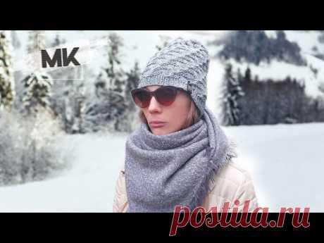 Модная шапка на осень-зиму спицами / DIY Knit women's hat