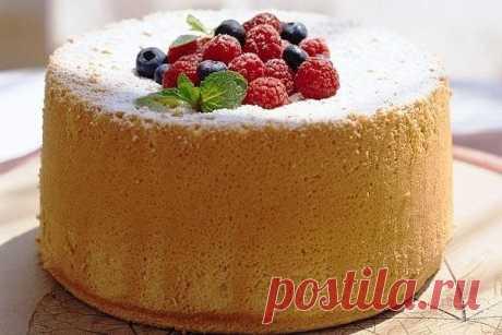 Высокий бисквит для тортов на плите