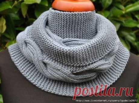 Вяжем стильный шарф-снуд Millwater