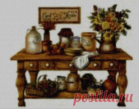 Kitchen Provans Cross Stitch Pattern Retro Kitchen Cross | Etsy