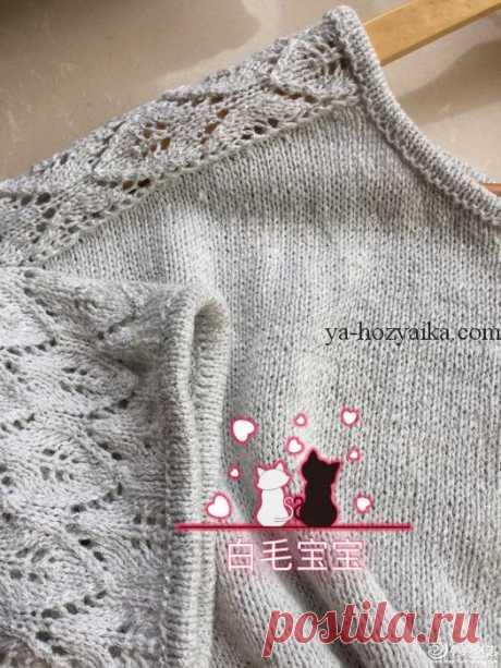 Пуловер оверсайз с ажурными рукавами спицами. Вязание спицами свитера женские схемы
