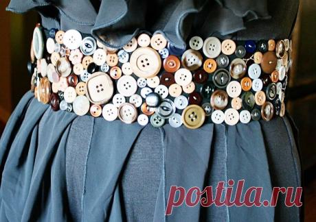 Смелые и оригинальные украшения одежды - пуговицами, бусинами, бисером и т.д. Идеи и примеры для воплощения!   Юлия Жданова   Яндекс Дзен