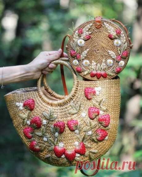 Идеи украшения корзин, сумок. ТОЛЬКО идеи!