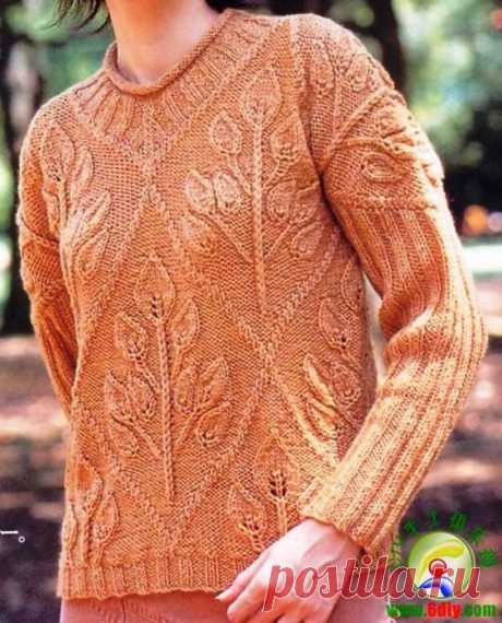 Пуловер с веточками