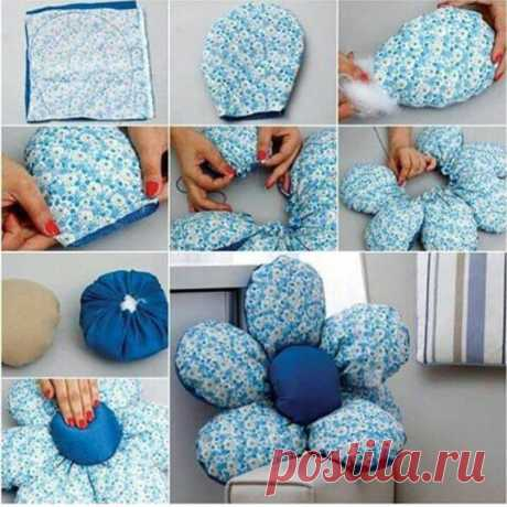 Подробный мастер класс ,как сделать мягкую подушку-ромашку . . Сохраняйте в закладках ,чтобы не потерять 👌. . .…