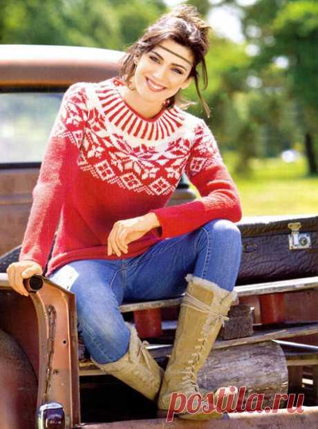 4 свитера с норвежскими узорами в стиле Роза Сельбу спицами – схемы вязания с описанием