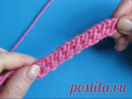 Вязание крючком - 33 урок Двойной галунный шнур