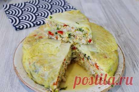 Необычный пирог из капусты — Кулинарная книга
