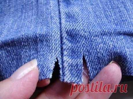 Как подшить джинсы. Мастер-класс - МирТесен