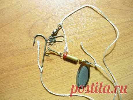 Улучшенный клинч узел для привязывания карабина, крючка, воблера, блесны