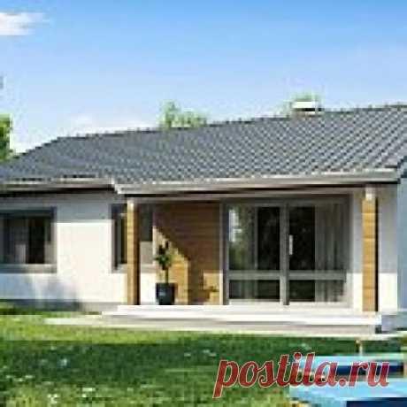 Проект компактного дома с двускатной крышей и фасадом из дереа — выгодный, функциональный и практичный - Z7 Компактный дом Z7 с двускатной крышей соединяет в себе функциональность, экономичность и практичность.