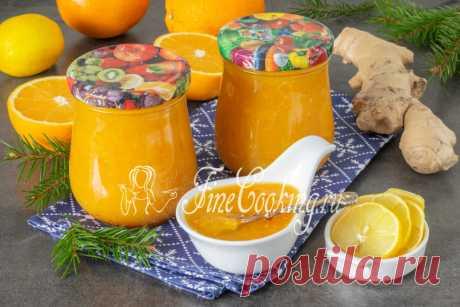 Апельсиновый джем с лимоном и имбирем