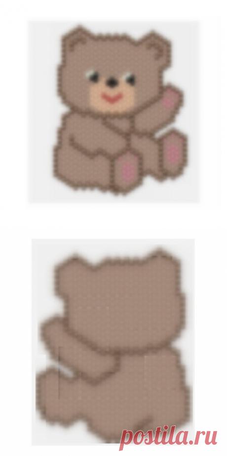 Peyote Teddy Bear beading pattern Miyuki peyote pattern | Etsy