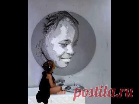 Картина маленькая девочка как художник | дизайн бубу