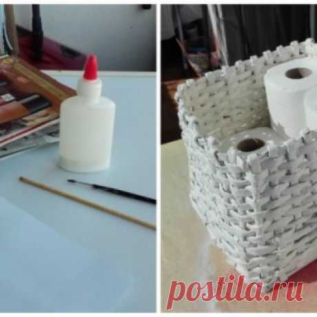How to weave a basket out of old magazines and to make it more abruptly, than in shop (photo)