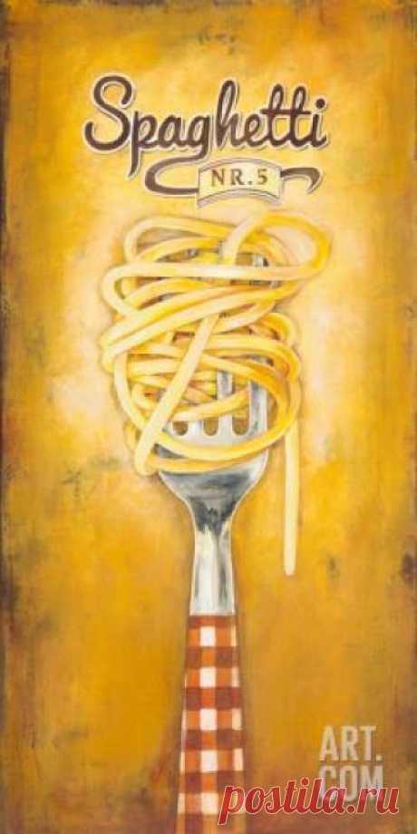 Spaghetti Art Print by Elisa Raimondi at Art.com