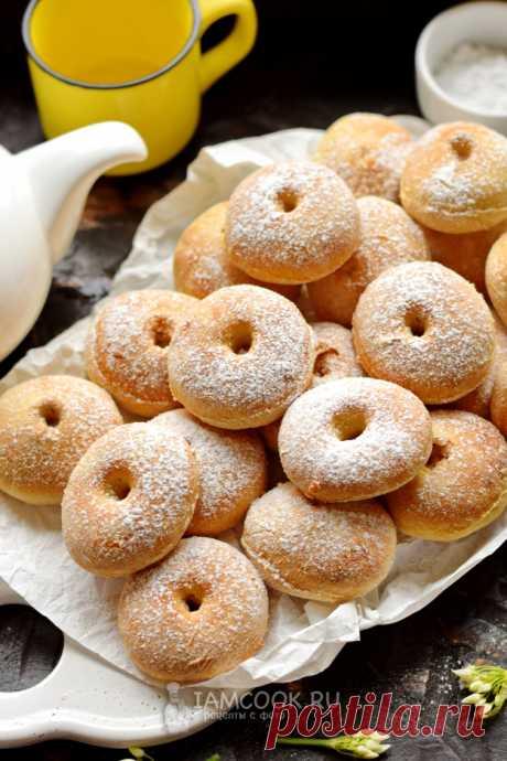 Пончики на кефире в духовке — рецепт с фото пошагово