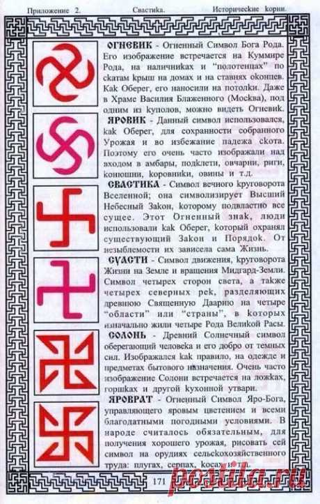 Славянская символика и её обозначения.