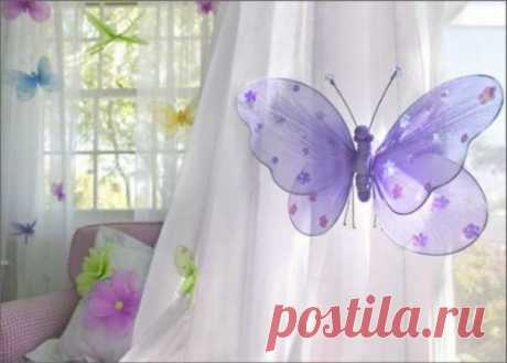 Бабочки из капрона. Мастер-класс и видео | Домохозяйка