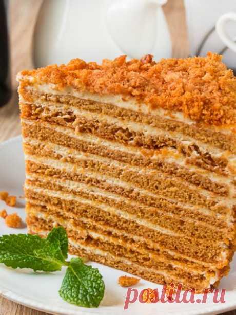 """Рецепт медовика """"Ателье"""" на Вкусном Блоге"""