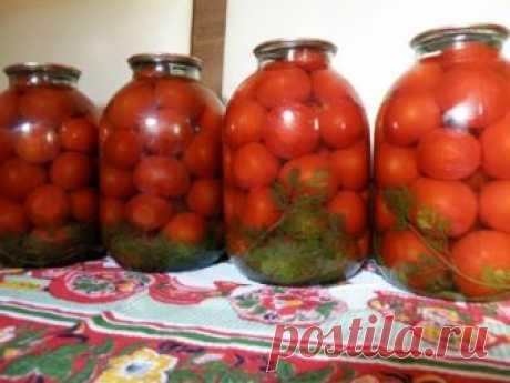 Откроешь такую баночку зимой, добавишь лук и майонез — вот и готов салат из свежих помидоров. Ингредиенты на 1 л. воды: 1ст.л.соли 3 ст.л. песка помидоры Способ приготовления Помидоры вымыть