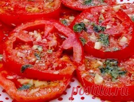 Как приготовить маринованные помидоры по-итальянски за 30 минут.  - рецепт, ингредиенты и фотографии