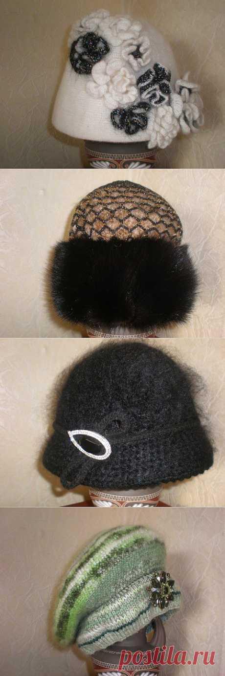 Зимние головные уборы | Вязание крючком и спицами