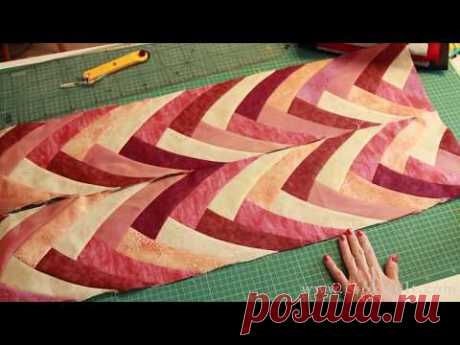 Boomerang patchwork tutorial -- amazing pattern and easy technique