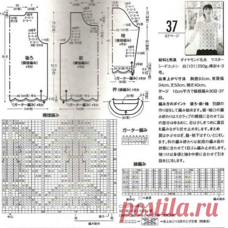 Japon dergilerinden örgü iğneli ajurlu kazaklar | Örgü, iğne işi, hobi | Yandex Zen