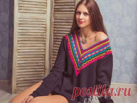 Вяжем свитер «Фрида»: инструкция с выкройкой