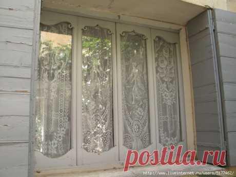 Кружевное окно: как приклеить тюль на окна   Самошвейка   Яндекс Дзен