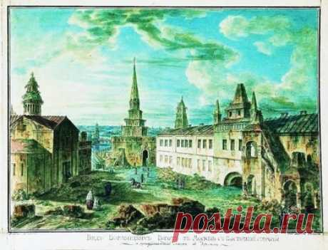 Допожарная Москва 1800-х годов — сбор пазла — Пазлы онлайн