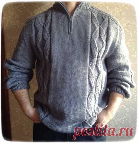 Подробный Мастер-класс по вязанию мужского свитера спицами