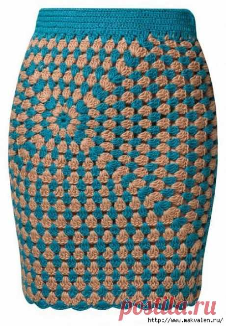 модели юбок «Бабушкин квадрат»
