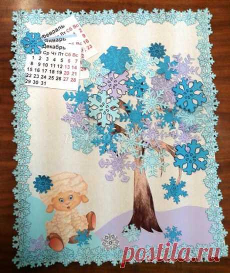 Весенний календарь из бумаги своими руками. Мастер-класс с пошаговым фото