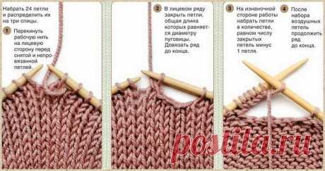 Показываю два способа, как вывязать отверстие на планке для пуговицы   Ольга knits спицами и крючком   Яндекс Дзен