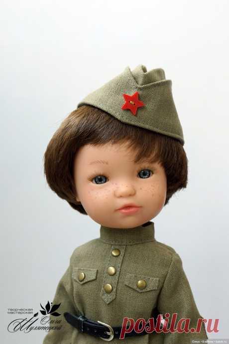 МК по пошиву военной формы для кукол формата Паола Рейна - ПИЛОТКА / Мастер-классы, творческая мастерская: уроки, схемы, выкройки для кукол / Бэйбики. Куклы фото. Одежда для кукол
