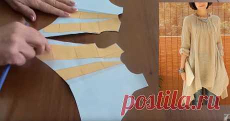 Выкройка туники с асимметричным низом