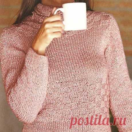 """Как связать простой свитер спицами. Описание Хотите связать простой свитер спицами с изюминкой?Кажется, что так не бывает. Что невозможно совместить оригинальность и простоту. Однако, некоторым дизайнерам это удаётся. Именно с такой удачной моделью мы и хотим познакомить вас сегодня. Этот свитер вяжется в два счёта, потому что в основе дизайна лежит два несложных узора. Лицевая гладь, известная каждому начинающей вязальщице и узор """"шахматка"""", который выполняется с помощью ..."""