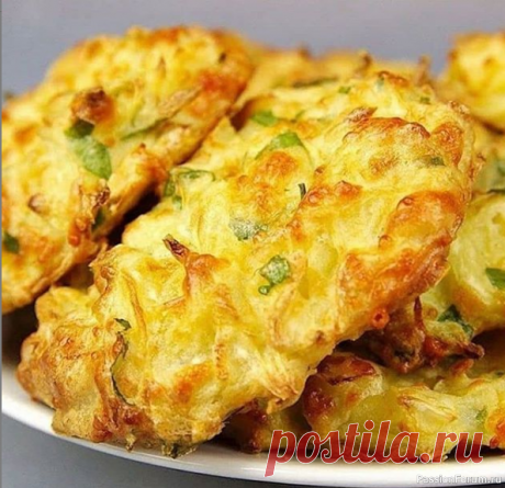 Оладушки из обычной капусты и сыра в духовке.
