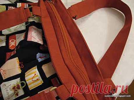 Сундучок с секретами: Как вшить молнию в сумку.МК
