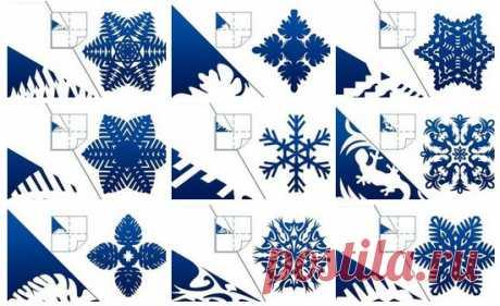 DIY Pretty Kirigami Snowflakes (Free Template) DIY Pretty Kirigami Snowflakes (Free Template), Paper Snowflake Cutting Tricks, easy paper cutting crafts