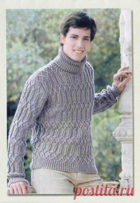 Узорчатый свитер Спицы