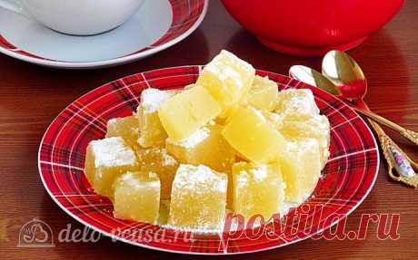 Апельсиновый рахат-лукум, пошаговый рецепт с фото