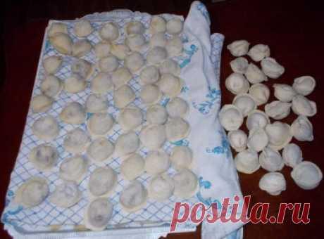 Compact way of a freezing of pelmeni and vareniki + ideal dough | Four tastes