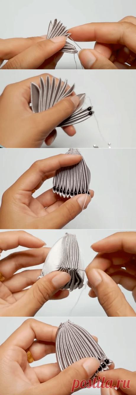 Оригинальная брошь из обычной ленты — стильное и нетривиальное украшение | Тысяча и одна идея