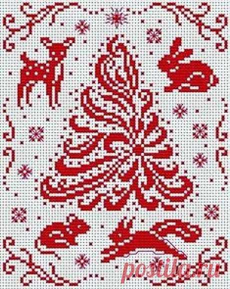 Схемы новогодняя вышивка крестиком бисером